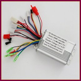 Wholesale 36v Scooter - Wholesale- 6mosfet 17A 36V 48V 350W Sensor Sensorless Brushless DC Motor Controller for Electric bicycle scooter