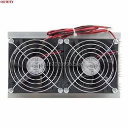 2019 amd processor am3 Wholesale-DIY Thermoelectric Peltier Sistema di raffreddamento Kit raffreddamento radiatore Doppio ventilatore # H029 #