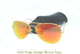 69e3d091b5 Al por mayor gafas de sol para hombre naranja lentes online Top para mujer  diseñador gafas