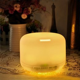 Wholesale Mini Home Air Humidifier - Humidifier Color Changing Light Air Humidifier 500ML Essential Oil Diffuser Mist Maker Fogger Aroma Humidifier for Home -US Plug