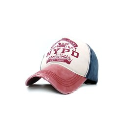 Wholesale Red Cowboy Hats - Men Women New Black Baseball Cap Nypd Alphabet Printed Golf Baseball Cap Outdoor Sports Sunshade Yulong Hole hats