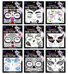 henna tattoo designs beine Rabatt 200 stücke Heißer verkauf schrecken nacht temporäre gesicht tattoo Body art kette transfer tattoos temporäre aufkleber auf lager 9 arten