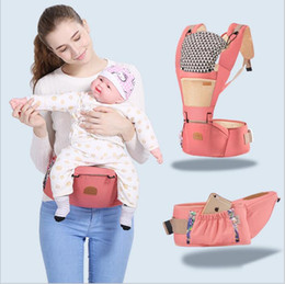 Wholesale Infants Suspenders - Baby Wrap Carriers Newborn Carrier Backpack Slings Toddler Suspenders Seat Kids Kangaroo Waist Stool Straps Infant Backpack Pouch New B3018