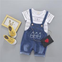 Wholesale Undershirt Child Boy - New Fashion Children Baby Boys Girls Clothes Kid's T-shirts Set Summer Undershirt Clothing Cotton Short T-Shirt + Short Pants Sets 80-110cm