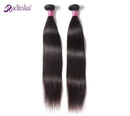 Wholesale Cheap High Quality Hair Extensions - 2Pcs Straight High Quality 100% Unprocessed Brazilian Hair Weave Natural Black Human Hair Extensions Hair Weft Cheap Weave
