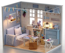 Wholesale Miniature Diy Assemble Toys - DIY Toys for Children, Miniature Doll House With Furnitures Assembling Scale Model Puzzle for Family friends and couples Gift