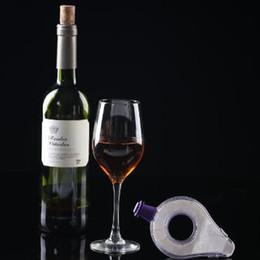 Wholesale wine decanter wholesale - New Mini Transparent Acrylic Wine Decanter Red Wine Aerating Pourer Spout Decanter Wine Accessories Tools CCA8414 100pcs
