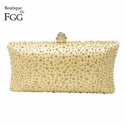 Wholesale Diamonds Hot Fix - Wholesale-Dazzling Women's Fashion Hot Fixed Diamond Crystal Gold Evening Clutches Box Clutch Handbags Wedding Party Metal Shoulder Bags