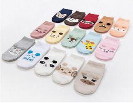Wholesale Toddling Baby - Baby Boat Socks Children's Shoes Antiskid Non-slip Bottom Cartoon 9-15cm kids toddle socks cotton