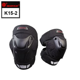 Wholesale Road Motorcycle Armor - SCOYCO Black Motorcycle Motocross Bike Bicycle Pads Racing ATV Off Road Knee Pads Protective Guards Armor Gear k15-2