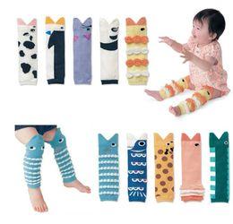 Wholesale Cartoon Girl Legging Tights - 10 Styles Baby girls boys cute Fish mouth leg warmer infants cartoon legging kneelet 8x30cm for 0-5T C001