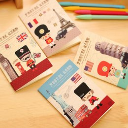 Wholesale Paper London - Wholesale- Q28 1X London Soldier Paper Notebook School Supplies Stationery caderno filofax Planner Writing Tool Children Day Gift papelaria