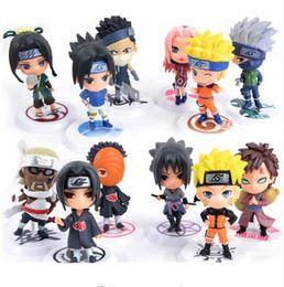"Wholesale q kid - 6pc set Anime Naruto Action Figure toys 3"" Q Version Naruto PVC Figures Model Collection 12pcs Full Set"
