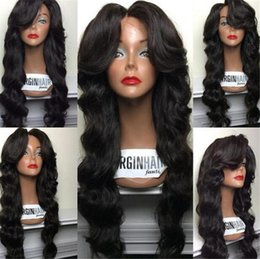 Wholesale European Remy Wigs - 100% indian remy loose wave 130%-150% density Glueless Full lace wig & Lace Front wigs Brazilian Virign human hair wigs