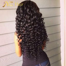 Wholesale Deep Curly Wigs - JYZ Lace Front Human Hair Wigs 130% Density Full Lace Human Hair Wigs For Black Women Brazilian Deep Wave Curly Lace Front Wig