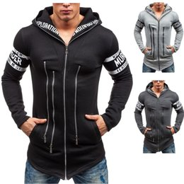Wholesale Korean Fashion Sweater For Man - Wholesale- Men winter hooded sweater Korean slim fashion casual boy jacket performance outdoors dress show for Tourism outdoors wear