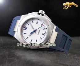 Relógios de pulso on-line-Alta Qualidade Ingenieur Família Missão Terra IW323608 White Dial Automático Mens Watch Sapphire Azul Pulseira De Borracha Relógios Baratos