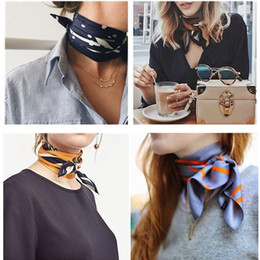 check hair Coupons - 2018 Silk Scarves, Fashion Simple Monochrome Scarves, hair bands, ladies retro silk scarves, solid color scarves wholesale free shipping