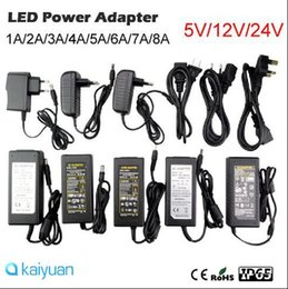 Wholesale 12v Dc Plugs - AC100-240V to DC 5V 12V DC24V 2A 3A 4A 5A 6A 8A Switching Power Supply Adapter with EU UK US Plug transformer 5050 3528 Led Strips CE ROHS