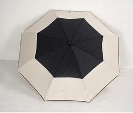 Flor plegada online-Patrón clásico de lujo Camellia Flower logo Paraguas Para mujer 3 Doble paraguas de lujo con caja de regalo y bolsa Paraguas de lluvia VIP regalo