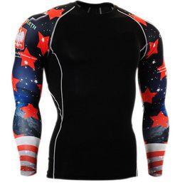 spedizione gratuita Nuovo arrivo Quick Dry Compression Shirt maniche lunghe Training tshirt Estate Fitness Abbigliamento tinta unita Bodybuild Gym Crossfit da