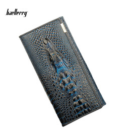 Wholesale Print Big Photos - Baellerry High Quality Genuine Leather Women's Wallets Real Alligator Pattern Zipper Purse Big Capacity Female Lady Wallet Coin Purse