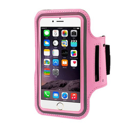 Wholesale Iphone 5s Workout - WaterProof Sports Armband Case With Key Holder for iPhone 7 Plus 6 6S Plus 5 5S Running Jogging Workout Pounch For Cell Mobile Phone