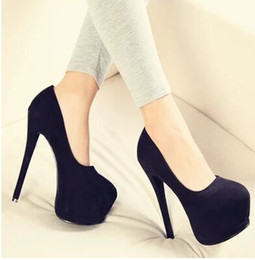 Wholesale platform shoes strappy heels - Wholesale New Arrival Hot Sale Specials Sweet Girl Good Quality Sexy Elegant Sweet Suede Strappy Platform Party Heels Shoes EU34-39
