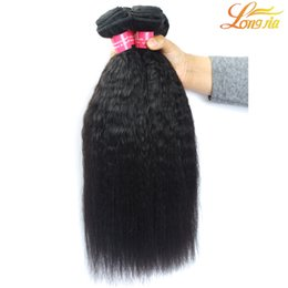 real top quality human hair Promo Codes - Top Quality Human Hair Bundles Yaki Straight Brazilian Hair Weaves Extension Real Virgin Indian Malaysian Peruvian Brazilian Hair