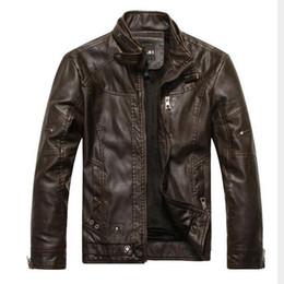 Wholesale Velvet Vintage Jacket - Wholesale- VXO Leather Jacket Men Bomber Jacket Jaqueta De Couro Male Csaco Men Stand Collar Motorcycle Jackets Veste Homme Velvet leather