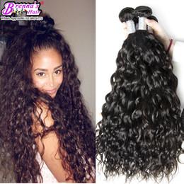 8A groviglio libero dei capelli del Virgin dell'onda dell'acqua dei capelli 10-28 pollici 1 PC soltanto fasci del tessuto umano nero naturale estensioni dei capelli di trama del doppio 1B da