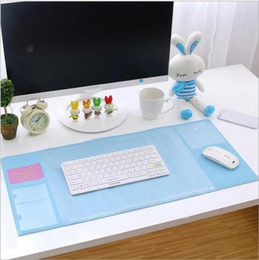 Wholesale Computer Desks Sale - Wholesale- hot sale! New fashion 6colors Oversized desk writing pad multifunction computer fresh mat PVC waterproof pad   mouse pad