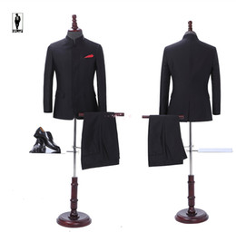 Wholesale Traditional Chinese Images - UR 01 Chinese Style Traditional Bussiness Fashion In Stock Costume Homme Formal Blazer Wedding Tuxedo Wedding Suits For Men Groom Party