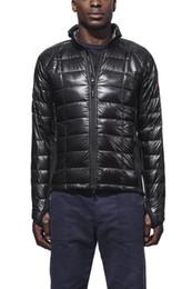 Wholesale Real Fur Coats Men - Men's Thin light Down jacket WINTER CANADA HYB-L-JAC-4 Down & Parkas Brand Real Raccoon Fur Collar White Duck Outerwear & Coats