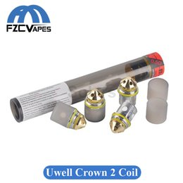 Wholesale Free Crowns - Geninue Uwell Crown 2 Coil Head Replacement Crown II Coil Flavour Chaser 4PCS Per Tube DHL Free