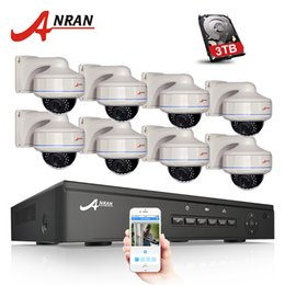 Wholesale Nvr Surveillance System - Plug And Play 8CH NVR POE CCTV System 3TB HDD P2P 1080P HD Vandalproof Dome 30 IR Night Vision Security Surveillance Camera Kit
