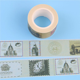Wholesale Decorative Sticky Tape - 2016 1 Pc   Pack New New Stamp Design 2.5cm*10m Paper Sticky Adhesive Sticker Decorative Washi Tape