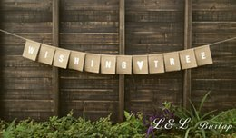 Wholesale Wedding Wishing Tree Wholesale - Wholesale- Burlap WISHING TREE Banner, Modern Rustic Style Wedding Reception Banner Custom Colors Available
