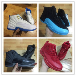 Wholesale Body Game - 2017 retro 12 XII basketball shoes ovo white Flu Game GS Barons wolf grey Gym red taxi gamma french blue sneaker