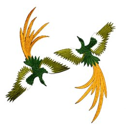 Wholesale Phoenix Clothes - 4PCS SET Fashionable Phoenix Sew on Patches for clothing applique embroidery Accessories Suppliers Crafts Sticker Free Shipping