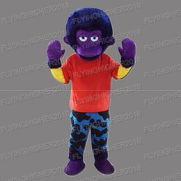 Wholesale Gorilla Adult Costume Mascot - Higher quality Gorillas monsters Mascot Costume adults christmas Halloween Outfit Fancy Dress Suit EMS Free Shipping