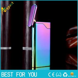 Wholesale Induction Lighters - HONEST Shake Automatic induction ignition gas lighters ultra-thin metal butnae lighter jet torch lighter with gift box