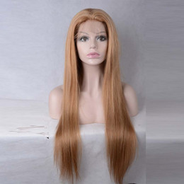 Wholesale Light Brown Lace Wigs - Unprocessed Virgin Light Brown Brazilian Glueless Full Lace Human Hair Wigs With Baby Hair Lace Front Wigs For Fashion Women