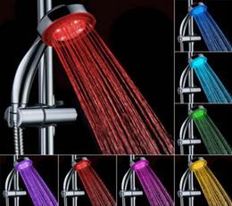 luz de chuveiro alimentada a água Desconto Material ABS Mudança de Cor Automática Iluminado Banheiro LEVOU Cabeça de Chuveiro Brilho Sem Bateria Levou Cabeça de Chuveiro Poder de Fluxo de Chuvas de Água