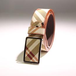 Wholesale Joker Buckle - Good quality belt the grid belt twill slide belt buckle Men's ms joker belts cowboy wide skirt