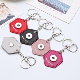 Wholesale Men Girl Beautiful - hot silver pu leather keychain snap button key chains Be BEAUTIFUL pendant key rings wholesale