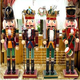 Wholesale Nutcracker Puppet - 30cm Nutcracker Puppet Soldiers Home Decorations for Christmas Creative Ornaments and Feative and Parrty Christmas gift