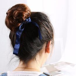 Wholesale Hair Buns For Girls - Fashion Magic Tools Foam Sponge Messy Donut Bun Hairstyle Bows Headwear Elastic Hair Band Accessories for Women Lady Girl