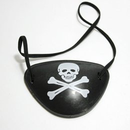 Wholesale Christmas Pirates Costume - Pirate Goggle Skull Crossbone Halloween Props Christmas Costume Party Mask Cosplay Accessories One Eyed Patch Hot 0 48dz F R