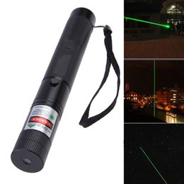 Wholesale Long Green Laser - Wholesale High Quality Laser Pointers Powerful Green Long Laser Pointer Aluminium Alloy Pen Star Cap With 18650 Battery And Charger
